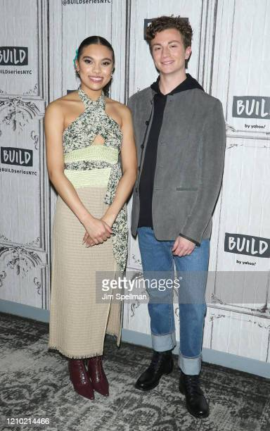 Actors Richard Ellis and Sofia Bryant attend the Build Series to discuss I Am Not Okay with This at Build Studio on March 03 2020 in New York City