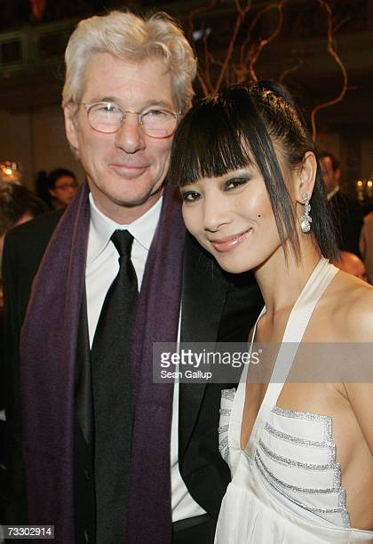 Actors Richard Gere and Bai Ling attend the Cinema for Peace Charity Gala on 12 February 2007 in Berlin Germany The gala is traditionally held during...