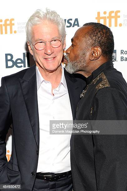 Actors Richard Gere and Ben Vereen attends the 'Time Out of Mind' premiere at the Toronto International Film Festival at The Elgin on September 7...