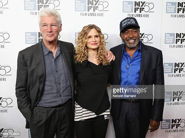 Actors Richard Gere Kyra Sedgwick and Ben Vereen attend the 'Time Out Of Mind' premiere during the 52nd New York Film Festival at Alice Tully Hall on...