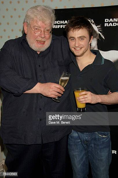 Actors Richard Griffiths and Daniel Radcliffe pose backstage during the press night of 'Equus' at the Gielgud Theatre on February 27 2007 in London...