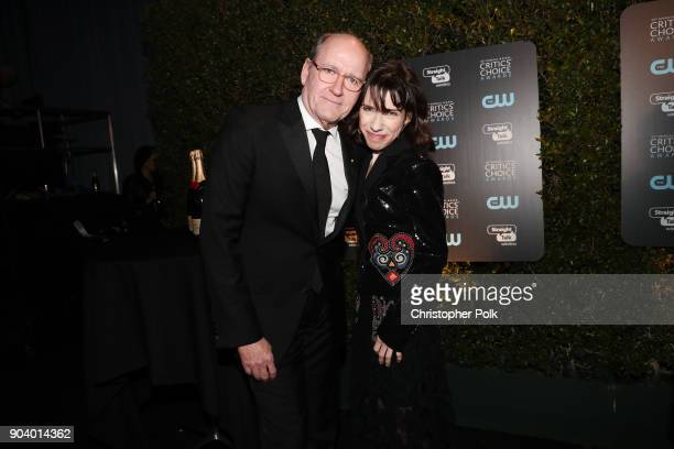 Actors Richard Jenkins and Sally Hawkins attend The 23rd Annual Critics' Choice Awards at Barker Hangar on January 11 2018 in Santa Monica California