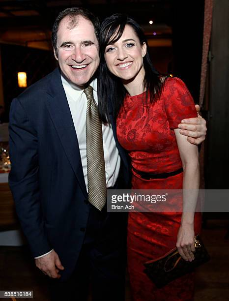 Actors Richard Kind and Lena Hall are seen during the A Celebration Of Arts Education event on June 6 2016 at City Winery in New York City