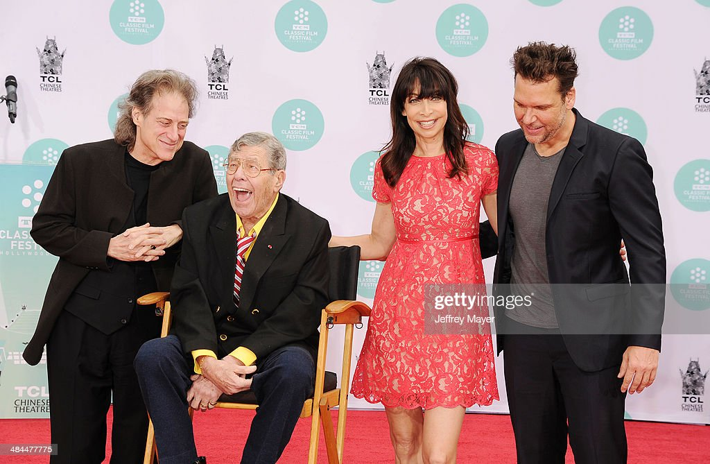 2014 TCM Classic Film Festival - Jerry Lewis Hand And Footprint Ceremony : News Photo