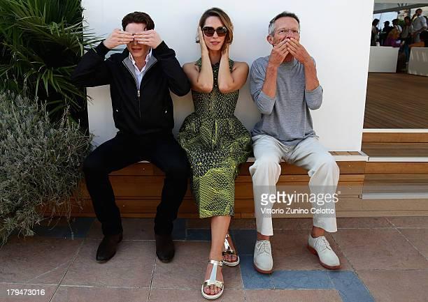 Actors Richard Madden Rebecca Hall and director Patrice Leconte attend the 70th Venice International Film Festival at Terrazza Maserati on September...