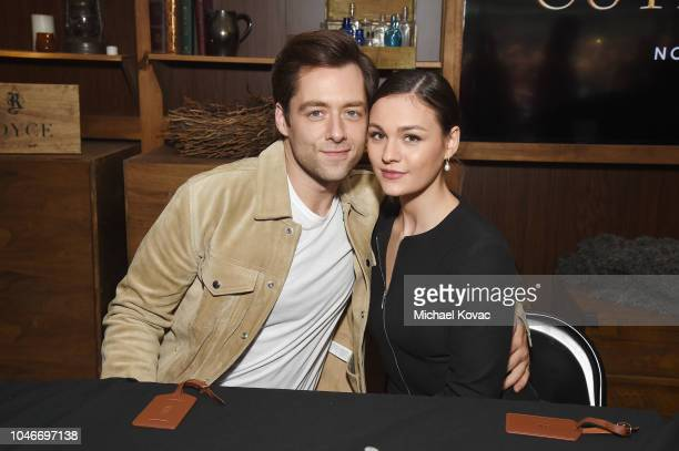 Actors Richard Rankin and Sophie Skelton attend as Starz brings Outlander to NYCC 2018 at Javits Center on October 6, 2018 in New York City.