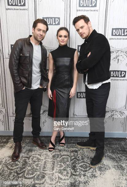 Actors Richard Rankin Sophie Skelton and Sam Heughan visit Build Series to discuss the Starz series 'Outlander' at Build Studio on October 31 2018 in...