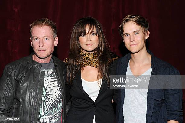 Actors Richard Roxburgh Alice Parkinson and Rhys Wakefield attend an Australians In Film screening of Universal Pictures' 'Sanctum' at the Mann...