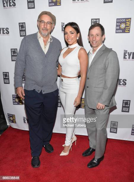 Actors Richard Schiff and Ana Isabelle and director Robbie Bryan attend the premiere of Parade Deck Films' 'The Eyes' at Arena Cinelounge on April 7...