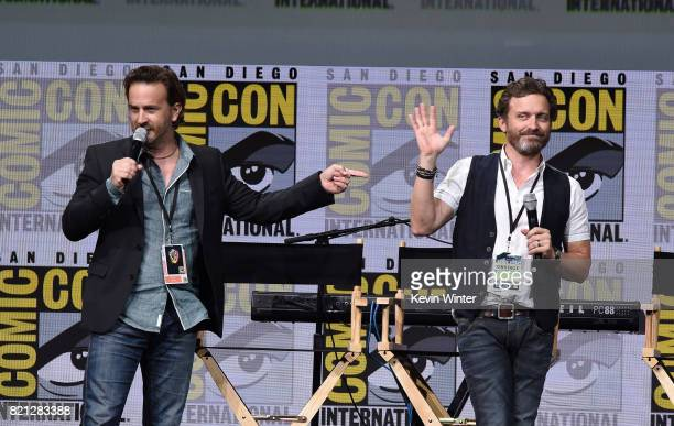 Actors Richard Speight Jr and Rob Benedict at the 'Supernatural' panel during ComicCon International 2017 at San Diego Convention Center on July 23...