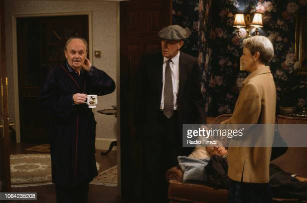 Actors Richard Wilson and Annette Crosbie in a scene from the BBC Television sitcom 'One Foot in the Grave' circa 1992