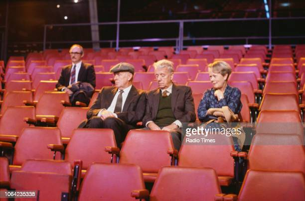 Actors Richard Wilson John Rutland and Annette Crosbie in a scene from episode 'The Worst Horror of All' of the BBC Television sitcom 'One Foot in...