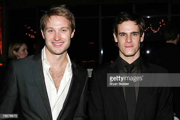 Actors Richard Winsor and Sam Archer attend the BAM 2007 Spring Gala celebrating the premiere of Edward Scissorhands on March 14 2007 in New York City