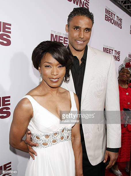 Actors Rick Fox and Angela Bassett arrive at the premiere of Lionsgate's Tyler Perry's Meet The Browns at the Cinerama Dome Theater on March 13 2008...