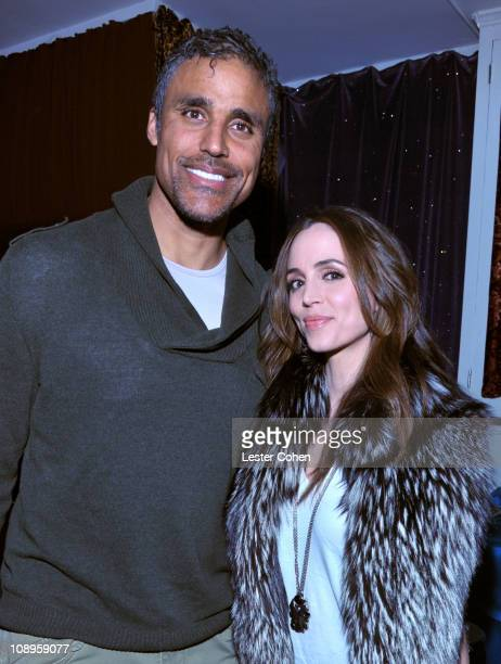 Actors Rick Fox and Eliza Dushku attend the PE Wing event 'Shaken Rattled and Rolled' honoring TBone Burnett held at The Villiage Studios on February...