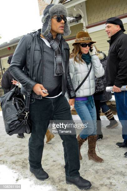 Actors Rick Fox and Eliza Dushku attend the Sundance Film Festival on January 22 2011 in Park City Utah