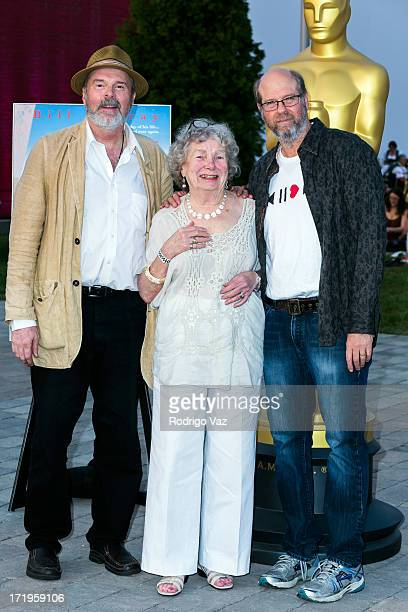 Actors Rick Overton Angela Paton and Stephen Tobolowsly attend The Academy of Motion Picture Arts and Sciences hosts Oscars Outdoors with a screening...