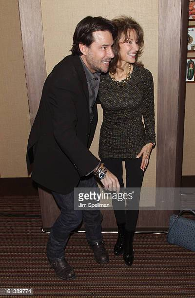 Actors Ricky Paull Goldin and Susan Lucci attend the Spontaneous Construction premiere at Guys American Kitchen Bar on February 10 2013 in New York...