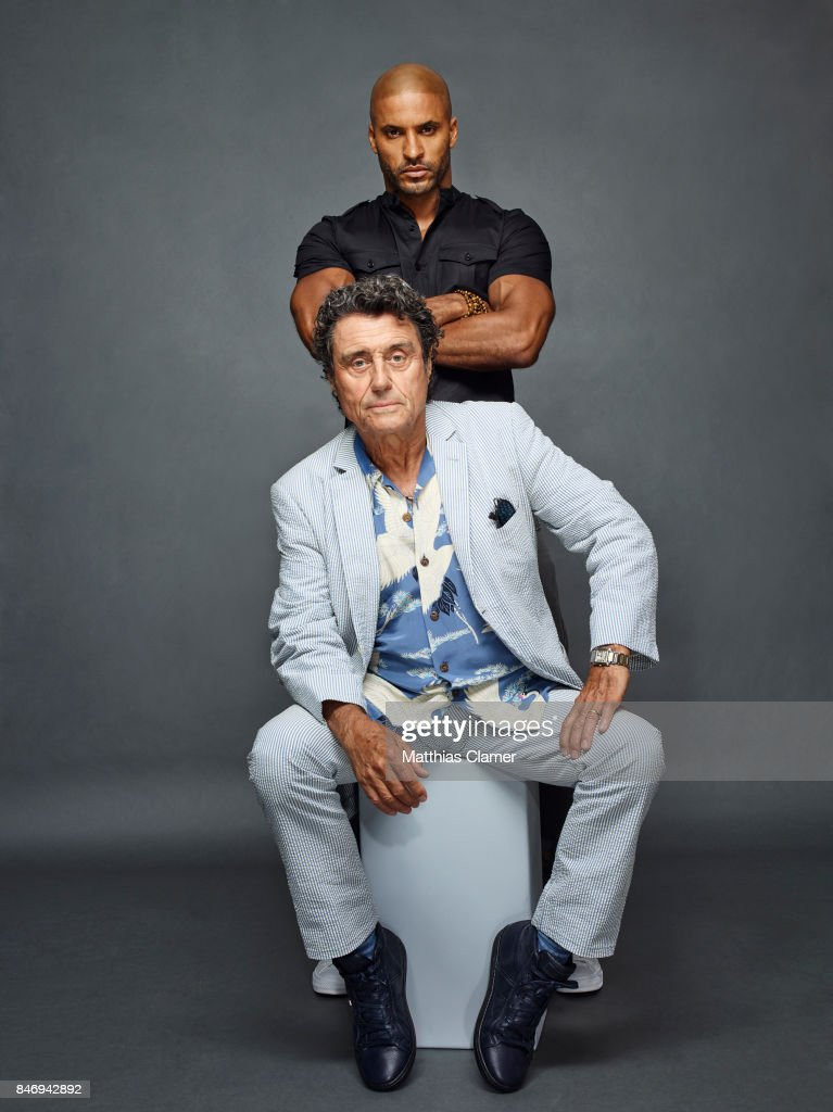 Actors Ricky Whittle and Ian McShane from 'American Gods' are photographed for Entertainment Weekly Magazine on July 22, 2016 at Comic Con in the Hard Rock Hotel in San Diego, California.