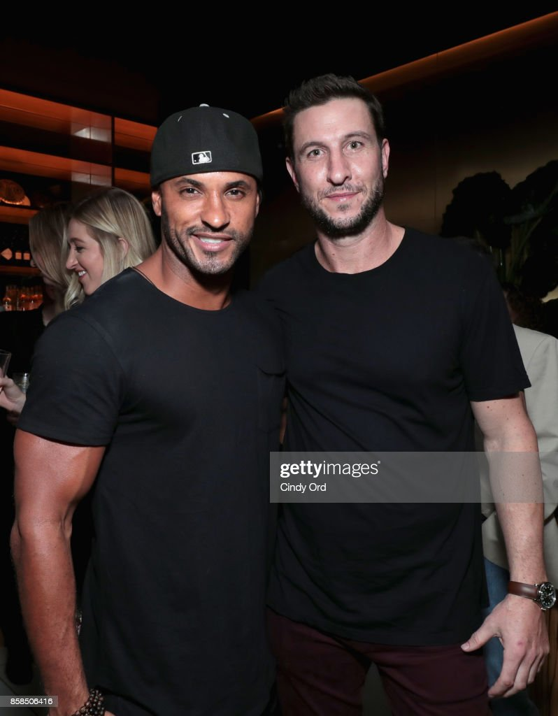 Actors Ricky Whittle and Pablo Schreiber attend Hulu's New York Comic Con After Party at The Lobster Club on October 6, 2017 in New York City.