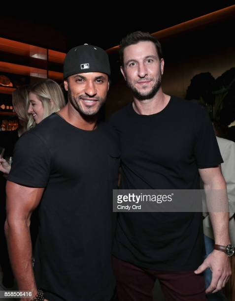 Actors Ricky Whittle and Pablo Schreiber attend Hulu's New York Comic Con After Party at The Lobster Club on October 6 2017 in New York City