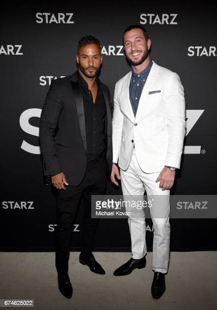 Actors Ricky Whittle and Pablo Schreiber attend the American Gods FYC event at Saban Media Center on April 28 2017 in North Hollywood California