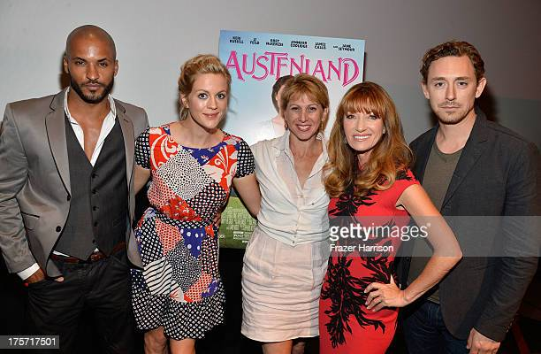 Actors Ricky Whittle Georgia King Founder/CEO of TheWrap Sharon Waxman Jane Seymour JJ Field attend TheWrap's Indie Series Screening of 'Austenland'...
