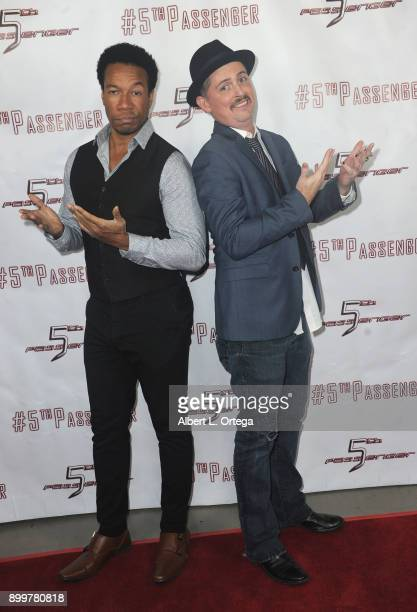 Actors Rico E Anderson and Manu Intiraymi arrive for the cast and crew screening of 5th Passenger held at TCL Chinese 6 Theatres on December 13 2017...
