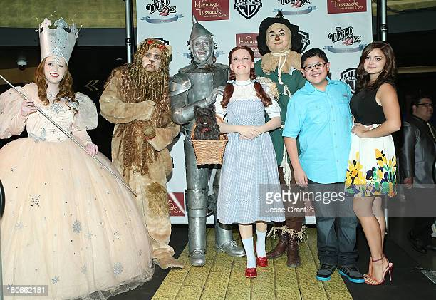 Actors Rico Rodriguez and Ariel Winter attend the Madame Tussauds Hollywood unveiling of Dorothy at 'The Wizard of Oz 3D' premiere on September 15...
