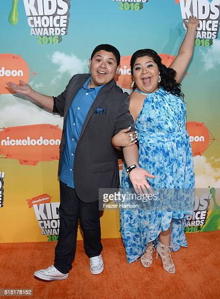 Actors Rico Rodriguez and Raini Rodriguez attend Nickelodeon's 2016 Kids' Choice Awards at The Forum on March 12 2016 in Inglewood California