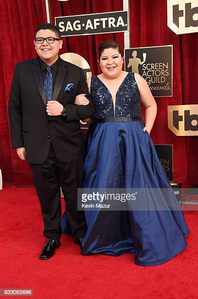Actors Rico Rodriguez and Raini Rodriguez attend The 23rd Annual Screen Actors Guild Awards at The Shrine Auditorium on January 29 2017 in Los...