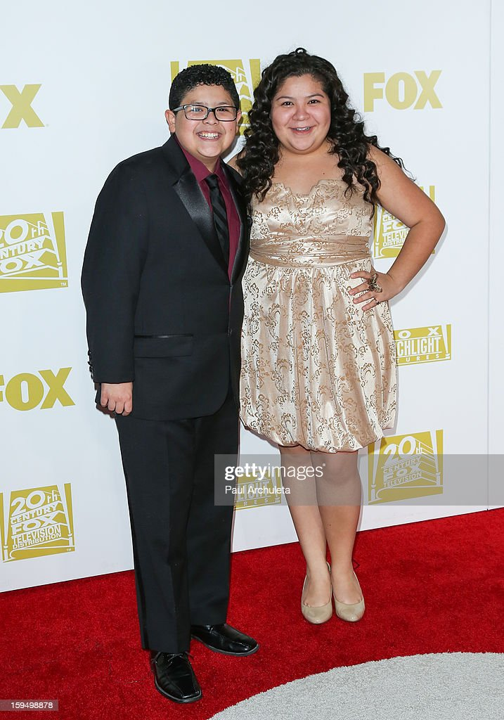 Actors Rico Rodriguez (L) and Raini Rodriguez (R) attend the FOX after party for the 70th Golden Globes award show at The Beverly Hilton Hotel on January 13, 2013 in Beverly Hills, California.