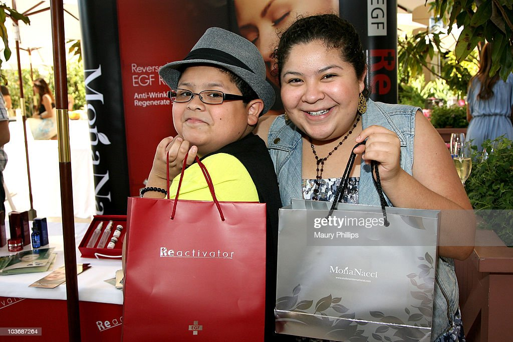 Actors Rico Rodriguez and Raini Rodriguez pose at Eudora International booth during Kari Feinstein Primetime Emmy Awards Style Lounge Day 2 held at Montage Beverly Hills hotel on August 27, 2010 in Beverly Hills, California.