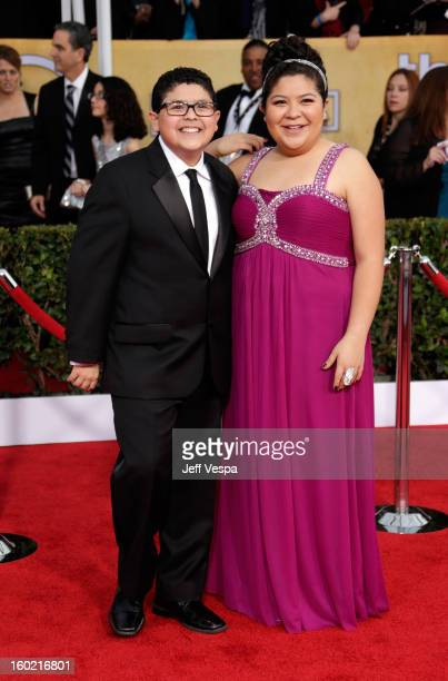 Actors Rico Rodriguez and Rico Rodriguez arrive at the19th Annual Screen Actors Guild Awards held at The Shrine Auditorium on January 27, 2013 in Los...