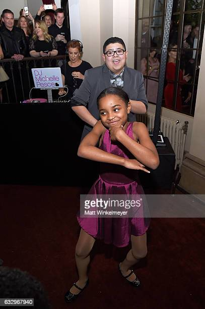 Actors Rico Rodriguez and Saniyya Sidney attend the Entertainment Weekly Celebration of SAG Award Nominees sponsored by Maybelline New York at...