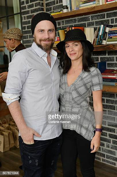 Actors Rider Strong and Alexandra Barreto attend the DEN Meditation Studio grand opening on January 31 2016 in Los Angeles California