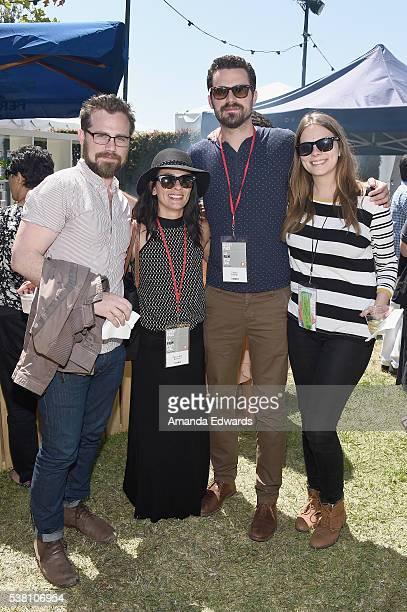 Actors Rider Strong and Alexandra Barreto director Taylor Feltner and Los Angeles Film Festival publicity coordinator Rachel Walker attend the LAFF...