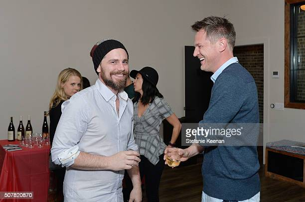 Actors Rider Strong and Scott Holroyd attend the DEN Meditation Studio grand opening on January 31 2016 in Los Angeles California