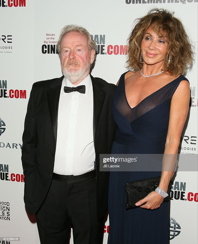 Actors Ridley Scott and Giannina Facio attend the 30th Annual American Cinematheque Awards Gala at The Beverly Hilton Hotel on October 14, 2016 in Beverly Hills, California