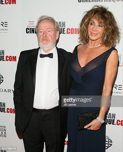 Actors Ridley Scott and Giannina Facio attend the 30th Annual American Cinematheque Awards Gala at The Beverly Hilton Hotel on October 14, 2016 in...