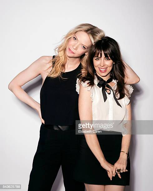 Actors Riki Lindhome Natasha Leggero are photographed for The Wrap on May 25 2016 in Los Angeles California PUBLISHED IMAGE