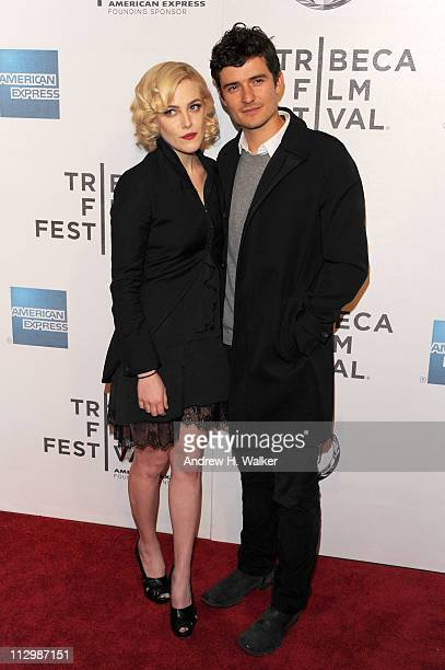 Actors Riley Keough and Orlando Bloom attend the premiere of The Good Doctor during the 2011 Tribeca Film Festival at BMCC Tribeca PAC on April 22...