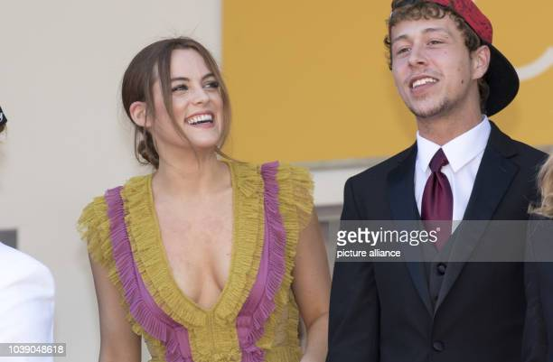 Actors Riley Keough and Raymond Coalson attend the premiere of 'American Honey' during the 69th Annual Cannes Film Festival at Palais des Festivals...