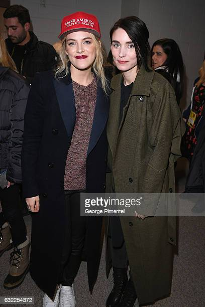 Actors Riley Keough and Rooney Mara attend the 'The Discovery' premiere during day 2 of the 2017 Sundance Film Festival at Eccles Center Theatre on...