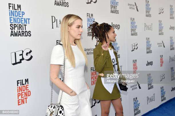 Actors Riley Keough and Sasha Lane attend the 2017 Film Independent Spirit Awards at the Santa Monica Pier on February 25 2017 in Santa Monica...