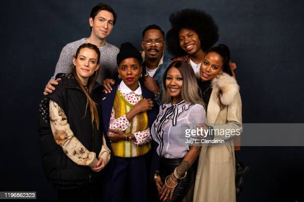 Actors Riley Keough Nicholas Braun director/cowriter Janicza Bravo Colman Domingo subject AZiah King cowriter Jeremy O Harris and Taylour Paige from...
