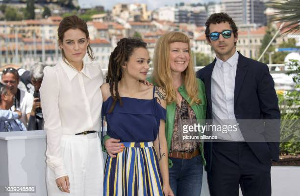 Actors Riley Keough Sasha Lane director Anrdrea Arnold and actor Shia LaBeouf attend the photocall of 'American Honey' during the 69th Annual Cannes...