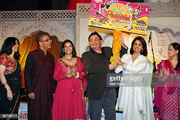 Actors Rishi Kapoor and Neetu Singh at the launch of the music album The Great Big Punjabi Wedding a compilation of 68 wedding songs and a karaoke...