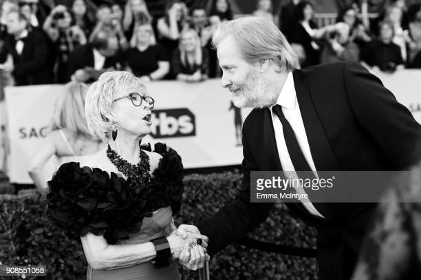 Actors Rita Moreno and Jeff Daniels attend the 24th Annual Screen Actors Guild Awards at The Shrine Auditorium on January 21, 2018 in Los Angeles,...
