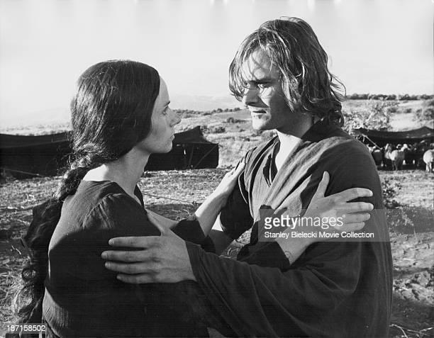 Actors Rita Tushingham and Leonard Whiting in a scene from the film 'Rachel's Man' 1976